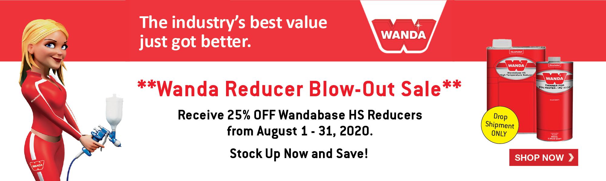 Wanda Reducer Blow Out Sale August 2020