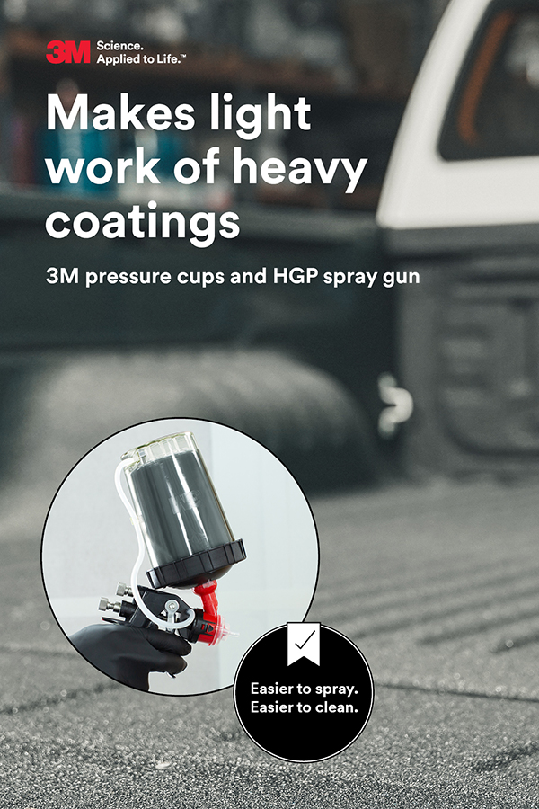 3M pressure cups and HGP spray gun makes light work of heavy coatings